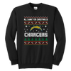 NFL - All I Want For Christmas Is San Diego Chargers Football Shirts-T-shirt-Youth Crewneck Sweatshirt-Black-XS-Itees Global