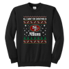 NFL - All I Want For Christmas Is San Francisco 49ers Football Shirts-T-shirt-Youth Crewneck Sweatshirt-Black-XS-PopsSpot