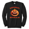 NFL - Cincinnati Bengals Pumpkin Football Shirt-T-shirt-Youth Crewneck Sweatshirt-Black-XS-Itees Global
