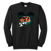 NFL – Cincinnati Bengals Mickey Mouse Football Shirt-T-shirt-Youth Crewneck Sweatshirt-Black-XS-PopsSpot