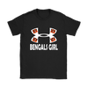 NFL – Cincinnati Bengals Girl Under Armour Football Shirts-T-shirt-Gildan Womens T-Shirt-Black-S-PopsSpot