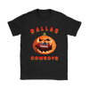 NFL – Halloween Pumpkin Dallas Cowboys Football NFL Shirts-T-shirt-Gildan Womens T-Shirt-Black-S-Itees Global
