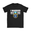 NFL - I Married Into This Indianapolis Colts Football Sweatshirt-T-shirt-Gildan Womens T-Shirt-Black-S-PopsSpot