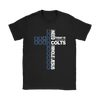 NFL – All I Need Today Is A Little Bit Of Indianapolis Colts And A Whole Lot Of Jesus Football Shirts-T-shirt-Gildan Womens T-Shirt-Black-S-Itees Global
