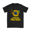 NFL - Carolina Panthers Sunflower Football NFL Shirts-T-shirt-Gildan Womens T-Shirt-Black-S-Itees Global