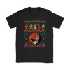NFL - Cleveland Browns Christmas Grateful Dead Jingle Bears Football Ugly Sweatshirt-T-shirt-Gildan Womens T-Shirt-Black-S-Itees Global