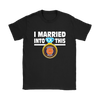 NFL - I Married Into This Chicago Bears Football Sweatshirt-T-shirt-Gildan Womens T-Shirt-Black-S-PopsSpot