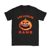 NFL – Halloween Pumpkin Los Angeles Rams Football NFL Shirts-T-shirt-Gildan Womens T-Shirt-Black-S-Itees Global
