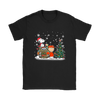 NFL – Denver Broncos Snoopy The Peanuts Movie Christmas Football Super Bowl Shirt-T-shirt-Gildan Womens T-Shirt-Black-S-PopsSpot
