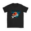 NFL – Cleveland Browns Mickey Mouse Football Shirts-T-shirt-Gildan Womens T-Shirt-Black-S-Itees Global