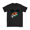 NFL – Cincinnati Bengals Mickey Mouse Football Shirts-T-shirt-Gildan Womens T-Shirt-Black-S-PopsSpot