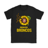 NFL - Denver Broncos Sunflower Football NFL Shirts-T-shirt-Gildan Womens T-Shirt-Black-S-Itees Global