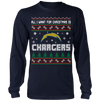 NFL - All I Want For Christmas Is San Diego Chargers Football Shirts-T-shirt-Long Sleeve Shirt-Navy-S-Itees Global