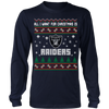 NFL - All I Want For Christmas Is Oakland Raiders Football Shirts-T-shirt-Long Sleeve Shirt-Navy-S-Itees Global