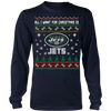 NFL - All I Want For Christmas Is New York Jets Football Shirts-T-shirt-Long Sleeve Shirt-Navy-S-Itees Global