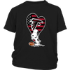 Atlanta Falcons Snoopy Football Sports Shirts-T-shirt-District Youth Shirt-Black-XS-Itees Global