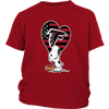 Atlanta Falcons Snoopy Football Sports Shirts-T-shirt-District Youth Shirt-Red-XS-Itees Global