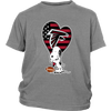 Atlanta Falcons Snoopy Football Sports Shirts-T-shirt-District Youth Shirt-Sport Grey-XS-Itees Global