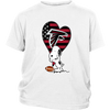 Atlanta Falcons Snoopy Football Sports Shirts-T-shirt-District Youth Shirt-White-XS-Itees Global
