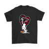 Atlanta Falcons Snoopy Football Sports Shirts-T-shirt-Gildan Mens T-Shirt-Black-S-Itees Global