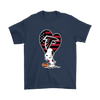 Atlanta Falcons Snoopy Football Sports Shirts-T-shirt-Gildan Mens T-Shirt-Navy-S-Itees Global