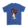 Atlanta Falcons Snoopy Football Sports Shirts-T-shirt-Gildan Mens T-Shirt-Royal Blue-S-Itees Global