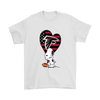 Atlanta Falcons Snoopy Football Sports Shirts-T-shirt-Gildan Mens T-Shirt-White-S-Itees Global