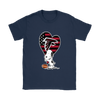 Atlanta Falcons Snoopy Football Sports Shirts-T-shirt-Gildan Womens T-Shirt-Navy-S-Itees Global