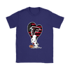 Atlanta Falcons Snoopy Football Sports Shirts-T-shirt-Gildan Womens T-Shirt-Purple-S-Itees Global
