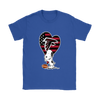 Atlanta Falcons Snoopy Football Sports Shirts-T-shirt-Gildan Womens T-Shirt-Royal Blue-S-Itees Global