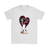 Atlanta Falcons Snoopy Football Sports Shirts-T-shirt-Gildan Womens T-Shirt-White-S-Itees Global
