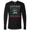 NFL - All I Want For Christmas Is New York Jets Football Shirts-T-shirt-Next Level Mens Long Sleeve-Black-S-Itees Global