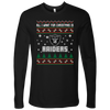 NFL - All I Want For Christmas Is Oakland Raiders Football Shirts-T-shirt-Next Level Mens Long Sleeve-Black-S-Itees Global