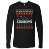 NFL - All I Want For Christmas Is Dallas Cowboys Football Shirts-T-shirt-Next Level Mens Long Sleeve-Black-S-PopsSpot