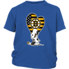 Boston Bruins Snoopy Hockey Sports Shirts-T-shirt-District Youth Shirt-Royal Blue-XS-Itees Global