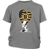 Boston Bruins Snoopy Hockey Sports Shirts-T-shirt-District Youth Shirt-Sport Grey-XS-Itees Global