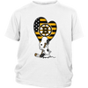 Boston Bruins Snoopy Hockey Sports Shirts-T-shirt-District Youth Shirt-White-XS-Itees Global