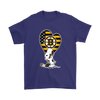 Boston Bruins Snoopy Hockey Sports Shirts-T-shirt-Gildan Mens T-Shirt-Purple-S-Itees Global