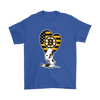 Boston Bruins Snoopy Hockey Sports Shirts-T-shirt-Gildan Mens T-Shirt-Royal Blue-S-Itees Global