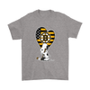 Boston Bruins Snoopy Hockey Sports Shirts-T-shirt-Gildan Mens T-Shirt-Sport Grey-S-Itees Global