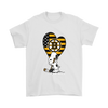Boston Bruins Snoopy Hockey Sports Shirts-T-shirt-Gildan Mens T-Shirt-White-S-Itees Global