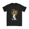 Boston Bruins Snoopy Hockey Sports Shirts-T-shirt-Gildan Womens T-Shirt-Black-S-Itees Global