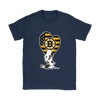Boston Bruins Snoopy Hockey Sports Shirts-T-shirt-Gildan Womens T-Shirt-Navy-S-Itees Global