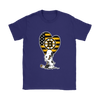 Boston Bruins Snoopy Hockey Sports Shirts-T-shirt-Gildan Womens T-Shirt-Purple-S-Itees Global