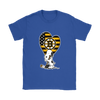 Boston Bruins Snoopy Hockey Sports Shirts-T-shirt-Gildan Womens T-Shirt-Royal Blue-S-Itees Global