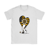Boston Bruins Snoopy Hockey Sports Shirts-T-shirt-Gildan Womens T-Shirt-White-S-Itees Global