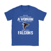 NFL - Never Underestimate A Woman Who Watches Football And Loves Atlanta Falcons Sweatshirt-T-shirt-Gildan Womens T-Shirt-Royal Blue-S-PopsSpot