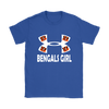 NFL – Cincinnati Bengals Girl Under Armour Football Shirts-T-shirt-Gildan Womens T-Shirt-Royal Blue-S-PopsSpot