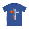 NFL – All I Need Today Is A Little Bit Of Cincinnati Bengals And A Whole Lot Of Jesus Football Shirts-T-shirt-Gildan Womens T-Shirt-Royal Blue-S-PopsSpot
