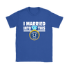 NFL - I Married Into This Indianapolis Colts Football Sweatshirt-T-shirt-Gildan Womens T-Shirt-Royal Blue-S-PopsSpot